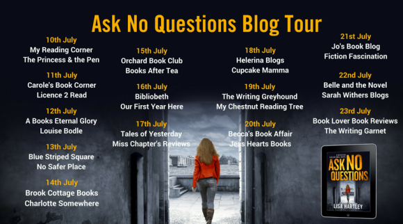 Ask No Questions Blog Tour Graphic